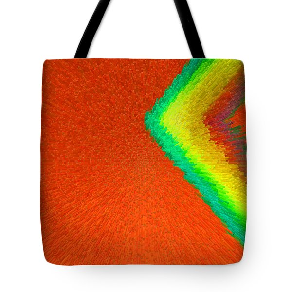 Chevron Rainbow Orange C2014 Tote Bag