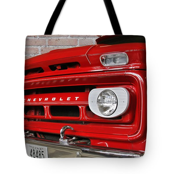 Chevy Beaumont Fire Museum Tx Tote Bag by Christine Till