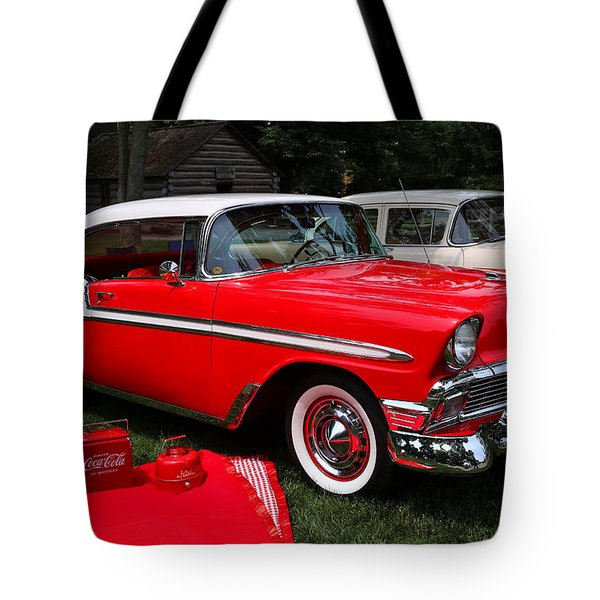 Chevy Bel Air In Red Tote Bag