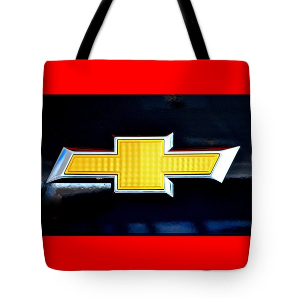 Chevy Bowtie Camaro Black Yellow Iphone Case Mancave Tote Bag