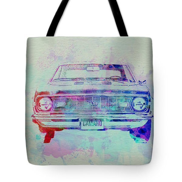 Chevy Camaro Watercolor 2 Tote Bag by Naxart Studio