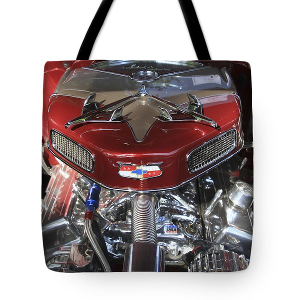 Chevy Engine Tote Bag