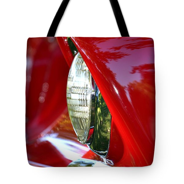 Chevy Headlight Tote Bag by Dean Ferreira