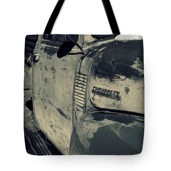Arroyo Seco Chevy In Silver Tote Bag