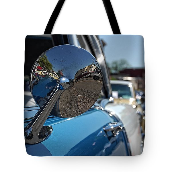 Chevy Mirror Tote Bag
