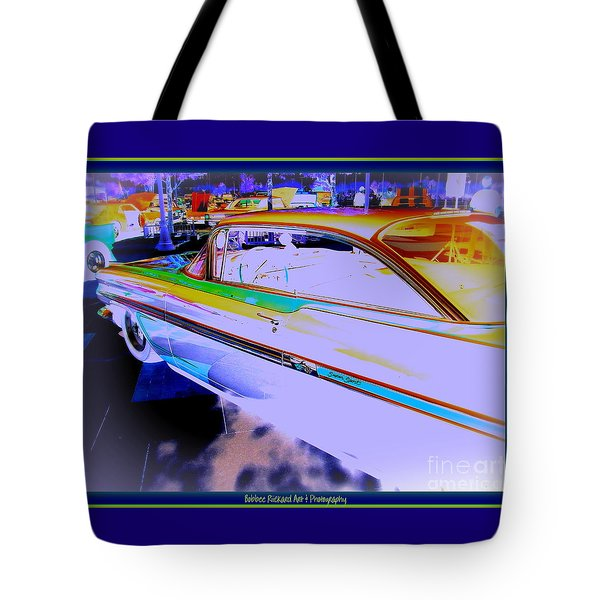 Chevy Psycho Delic Tote Bag by Bobbee Rickard