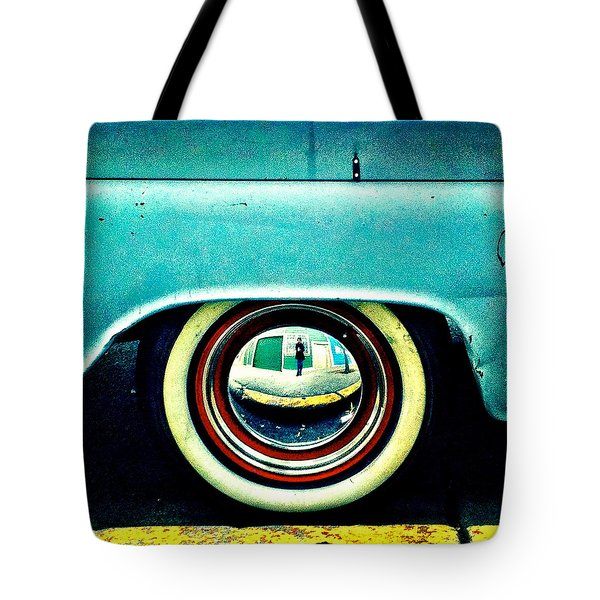 Chevy Wheel Tote Bag