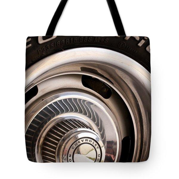 Chevy Wheel Tote Bag