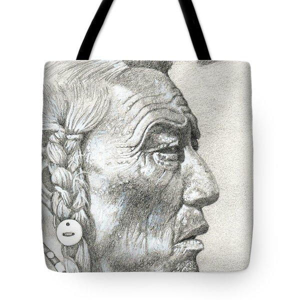 Bear Bull, Blackfoot Tote Bag