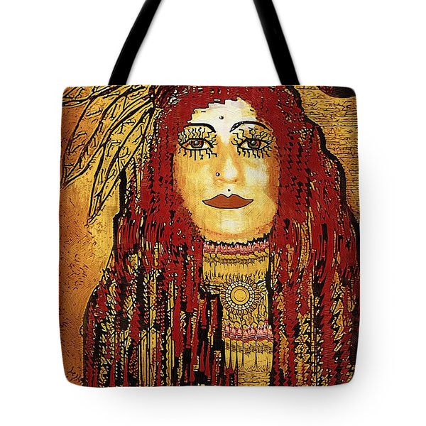 Cheyenne Woman Warrior Tote Bag by Pepita Selles