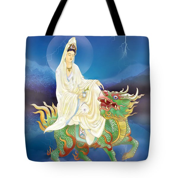 Tote Bag featuring the photograph Chi Lin Kuan Yin by Lanjee Chee