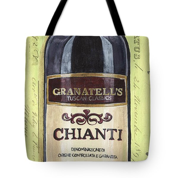 Chianti And Friends Panel 1 Tote Bag by Debbie DeWitt