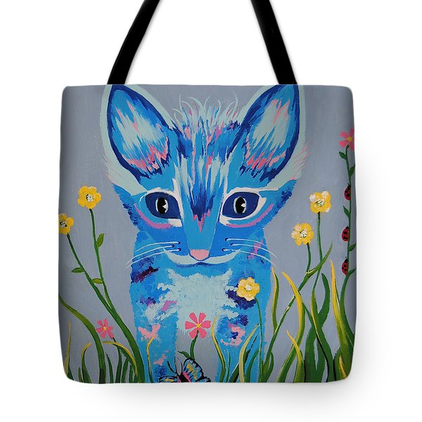 Tote Bag featuring the painting Chibi by Kathleen Sartoris