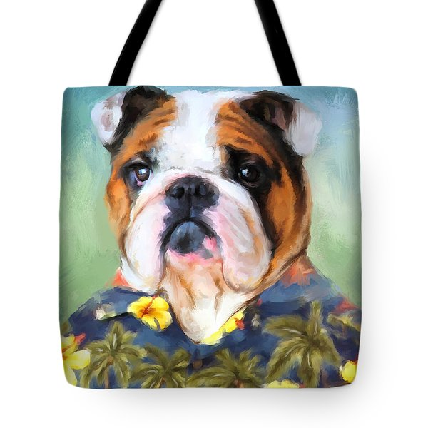 Chic English Bulldog Tote Bag