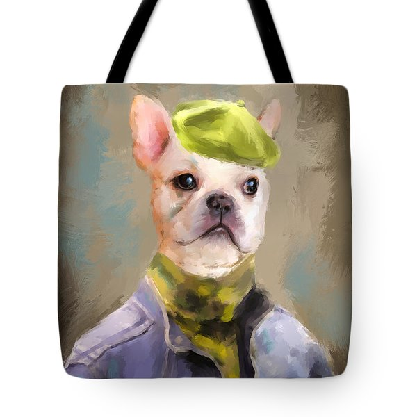 Chic French Bulldog Tote Bag