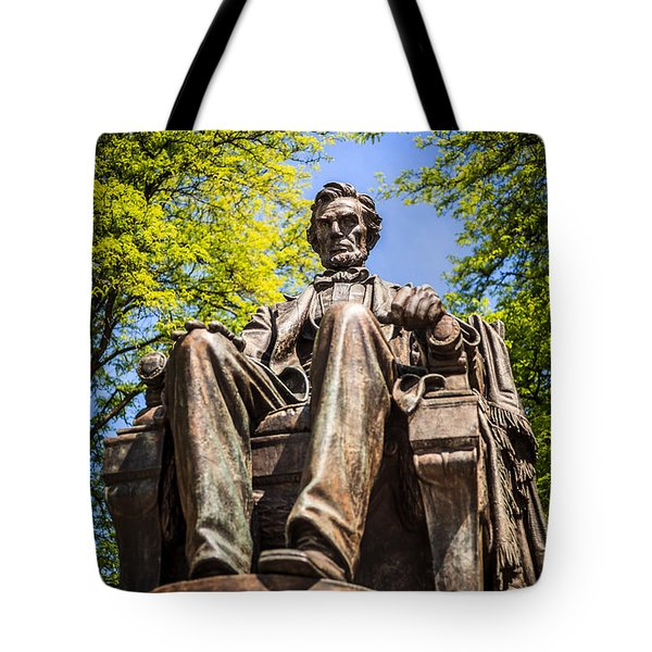 Chicago Abraham Lincoln Sitting Statue Tote Bag by Paul Velgos