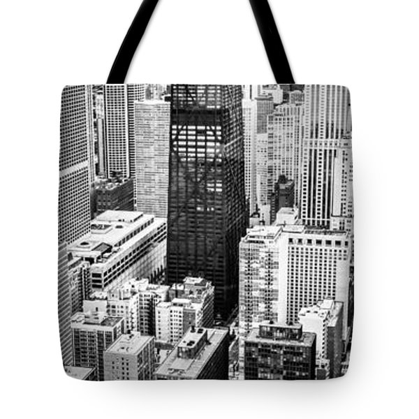 Chicago Aerial Vertical Panoramic Picture Tote Bag by Paul Velgos