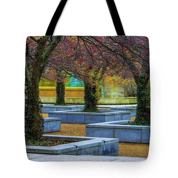 Chicago Art Institute South Garden Tote Bag by Raymond Kunst
