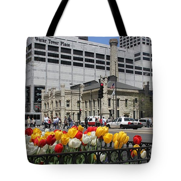 Chicago At Spring Time Tote Bag