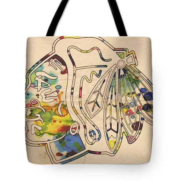 Chicago Blackhawks Poster Art Tote Bag