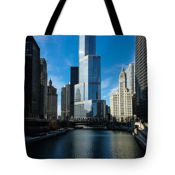 Tote Bag featuring the photograph Chicago Blues by Georgia Mizuleva