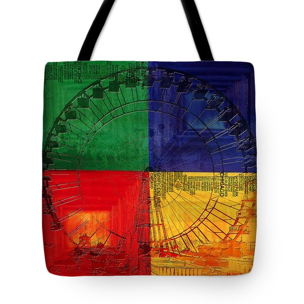 Chicago City Collage 3 Tote Bag by Corporate Art Task Force