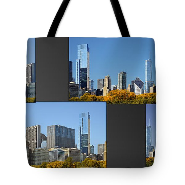 Chicago City Of Skyscrapers Tote Bag by Christine Till