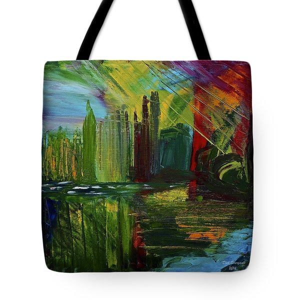Chicago City Scape Tote Bag