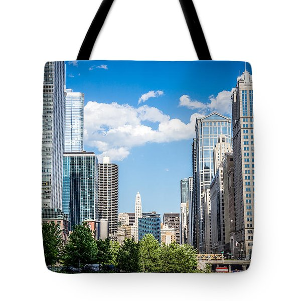 Chicago Cityscape Downtown Buildings Tote Bag by Paul Velgos