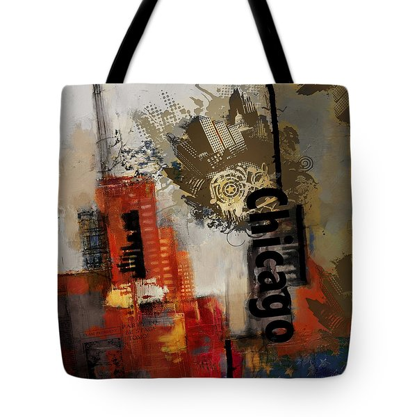 Chicago Collage Tote Bag by Corporate Art Task Force