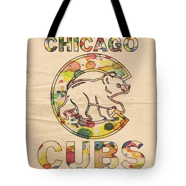 Chicago Cubs Vintage Poster Tote Bag