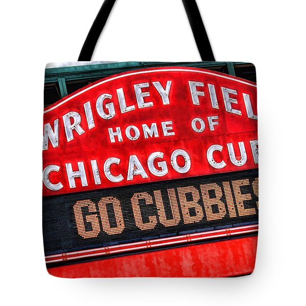 Chicago Cubs Wrigley Field Tote Bag by Christopher Arndt
