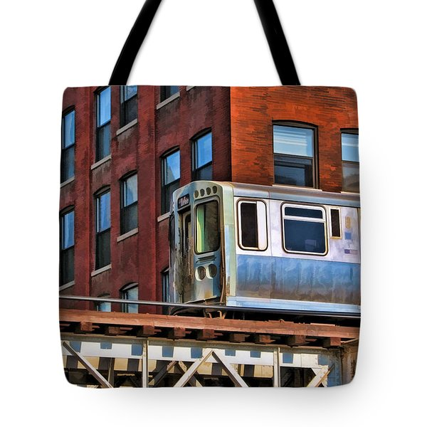 Chicago El And Warehouse Tote Bag by Christopher Arndt