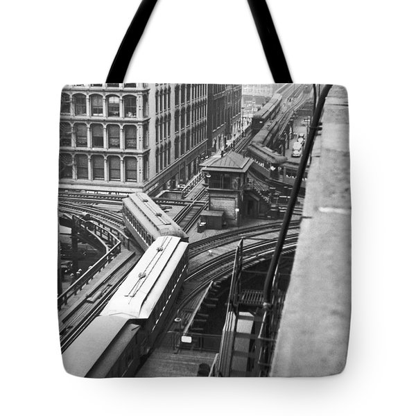 Chicago El Train Tote Bag