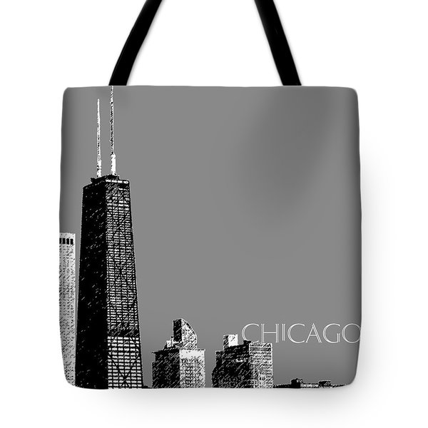 Chicago Hancock Building - Pewter Tote Bag