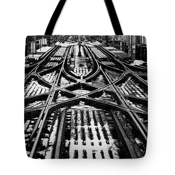 Chicago 'l' Tracks Winter Tote Bag
