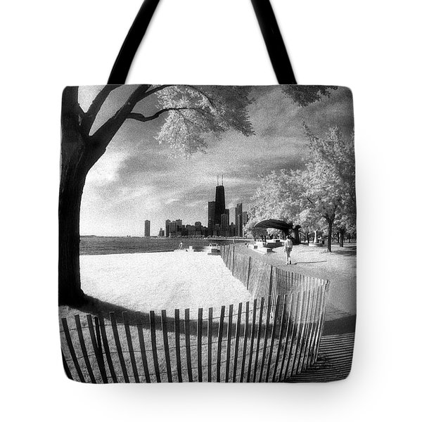 Tote Bag featuring the photograph Chicago Lakefront Infrared by Martin Konopacki