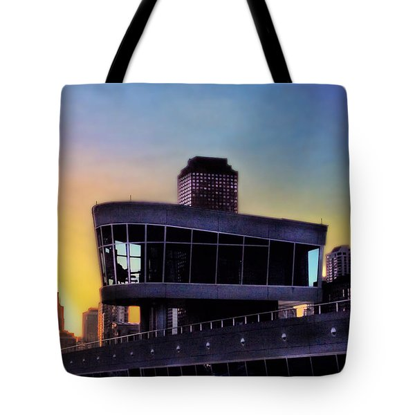 Tote Bag featuring the photograph Chicago Lock Tower by John Hansen