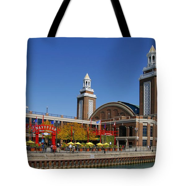 Chicago Navy Pier Headhouse Tote Bag by Christine Till