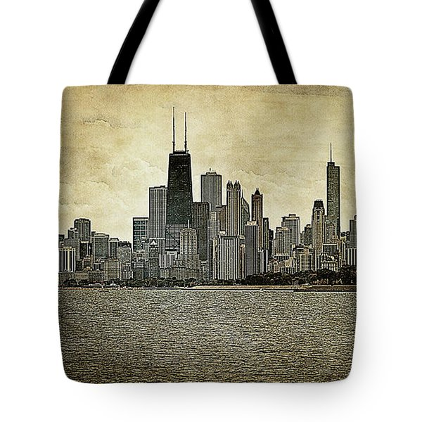 Chicago On Canvas Tote Bag