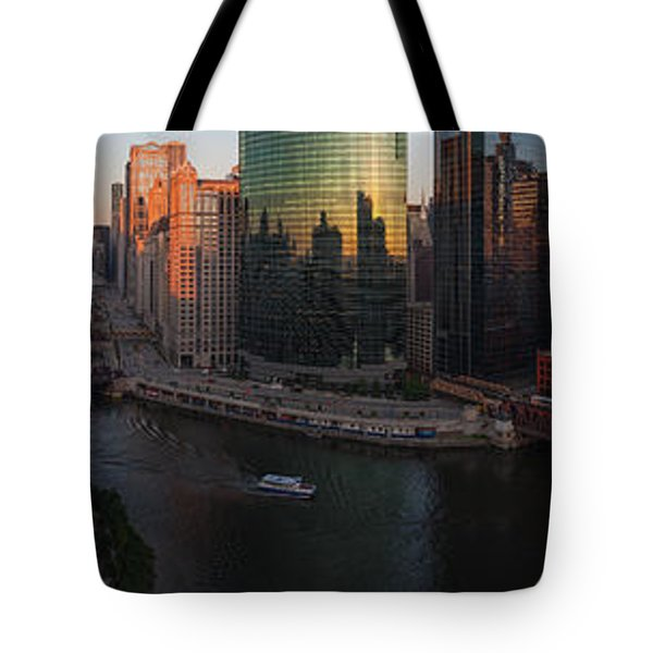 Chicago On The River Tote Bag by Steve Gadomski