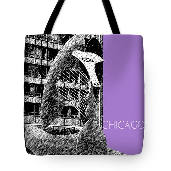 Chicago Pablo Picasso - Violet Tote Bag