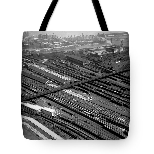 Chicago Railroad Yards Tote Bag