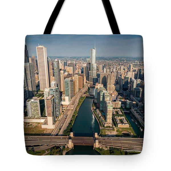 Chicago River Aloft Tote Bag