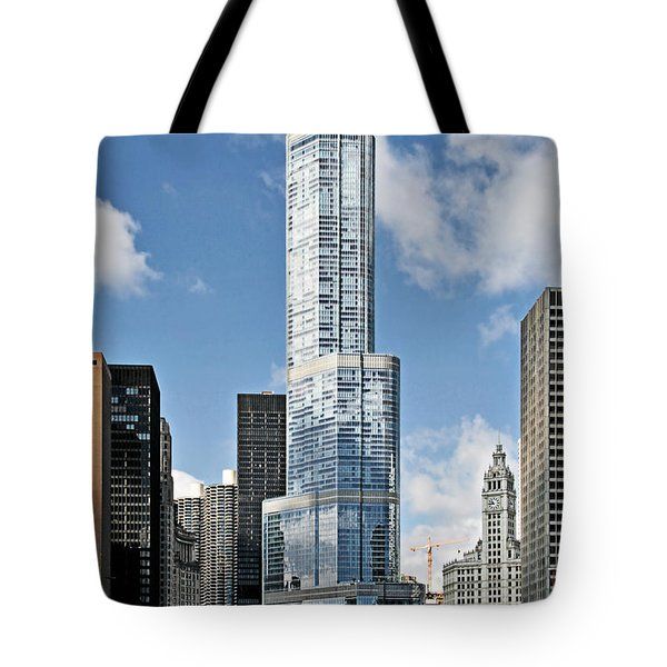 Chicago River - Beauty And Headache Tote Bag by Christine Till