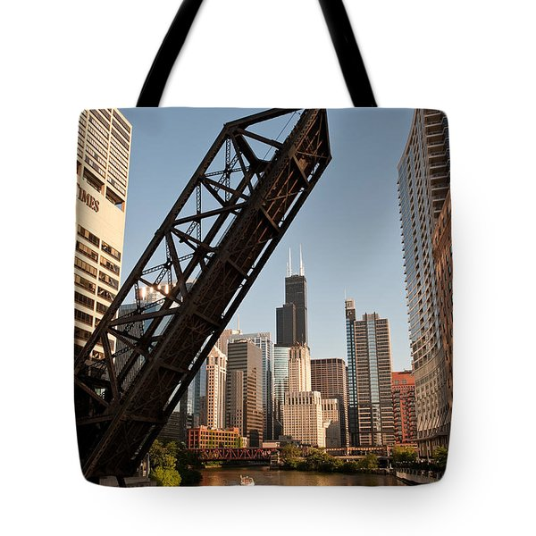 Chicago River Traffic Tote Bag by Steve Gadomski