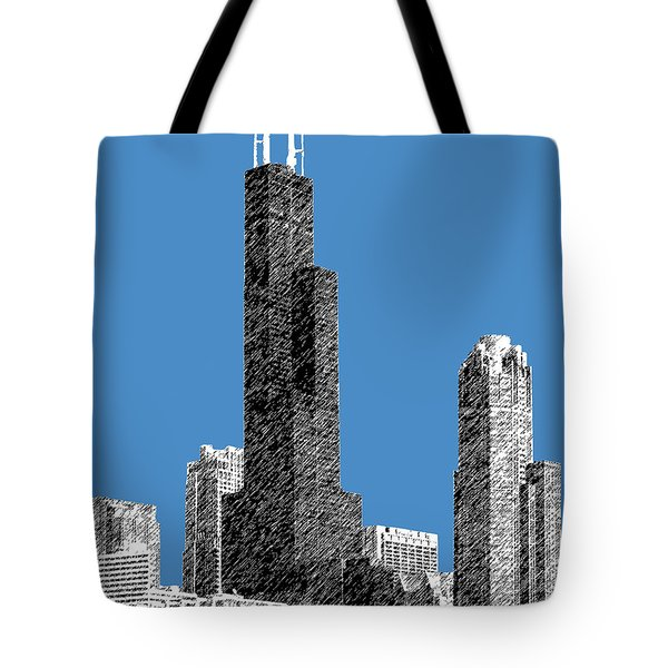 Chicago Sears Tower - Slate Tote Bag