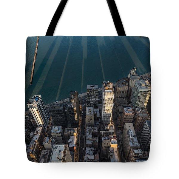 Chicago Shadows Tote Bag by Steve Gadomski