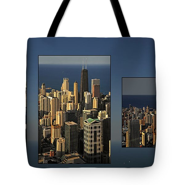 Chicago Skyline From Willis Tower Tote Bag by Christine Till
