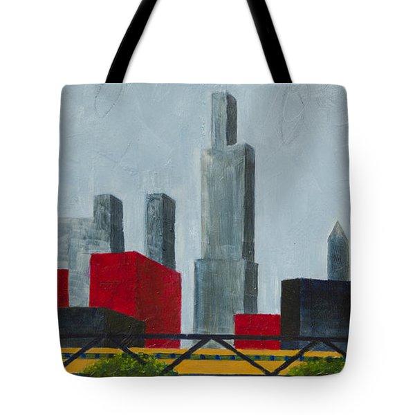 Chicago Skyline I Tote Bag